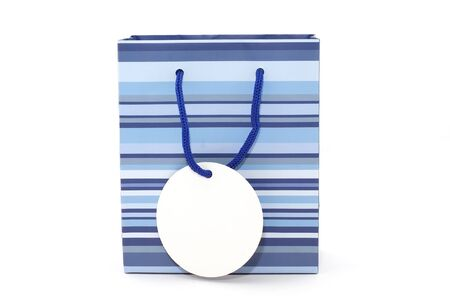 Gift bag with white label for adding message