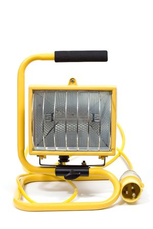Yellow halogen outdoor light with plug