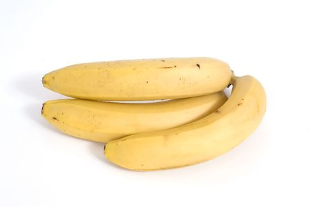 A bunch of bananas on a white background Stock Photo