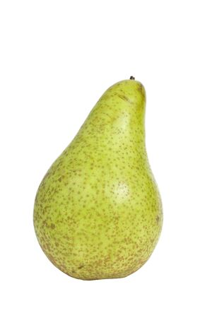 A pear photographed against a white background Stock Photo