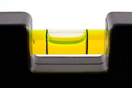 close-up van de zeepbel in een waterpas