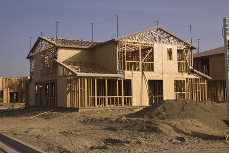 A new home under construction in Southern California