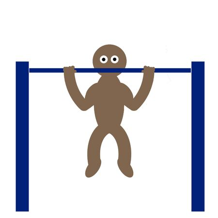 Kippy doing pull-ups