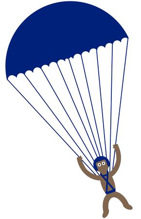 skydiving: Kippy skydiving Stock Photo