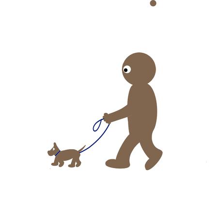 stroll: Kippy walking dog