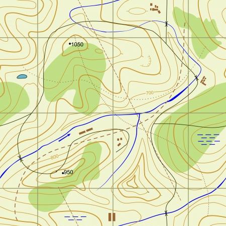 Naadloze abstracte topografische kaart Naadloos patroon kan worden gebruikt voor behang, patroon vult, webpagina achtergrond, oppervlaktestructuren Gorgeous naadloze achtergrond Stock Illustratie