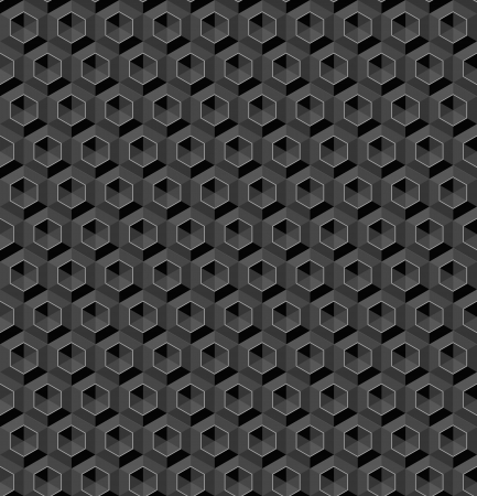 Seamless abstract graphite crystal hexagon background
