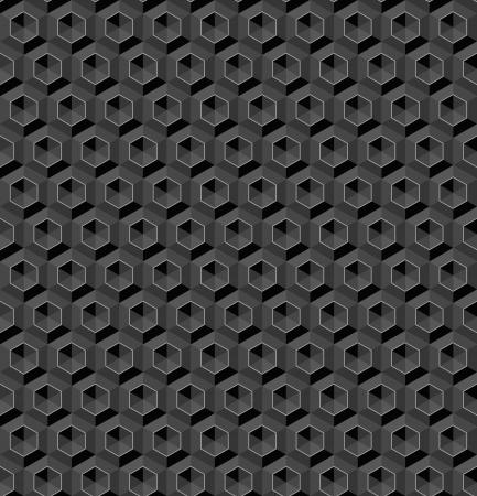 grafito: Seamless grafito extracto fondo hexágono de cristal Vectores