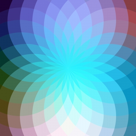 Parlak mavi geometrik çiçek ile arka plan.