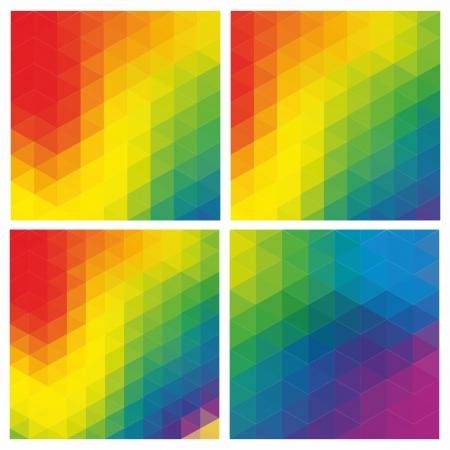 Pattern of geometric shapes. Flow of spectrum effect.
