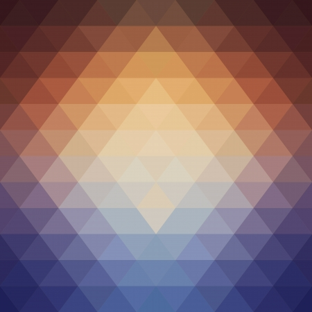 Geometric pattern made  triangles   Flow of the spectral  light  Illustration
