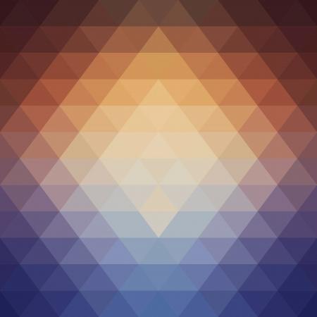 Spektral ışık Geometrik desen yapılmış üçgenler Akış Illustration