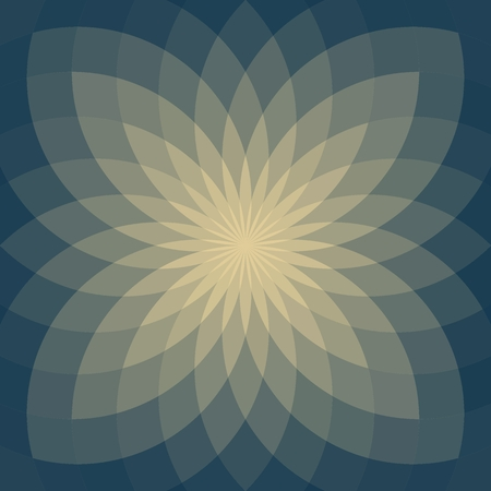 Background with bright  geometric flower. Flow  spectral light.