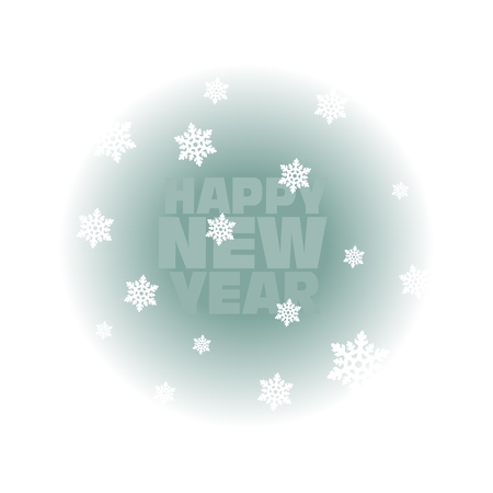 Happy New Year  Greeting Card , vector illustration Vector