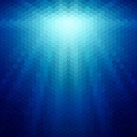 Abstract background with rays of hexagons Illustration