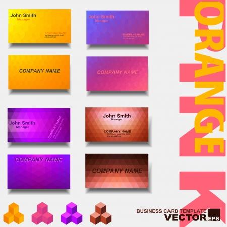 Modern business card template Illustration