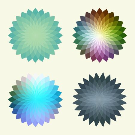Abstract polygonal vector background  that reminds a flowers. Place for your text. Vector