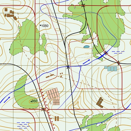topographical: Seamless Abstract topographical map