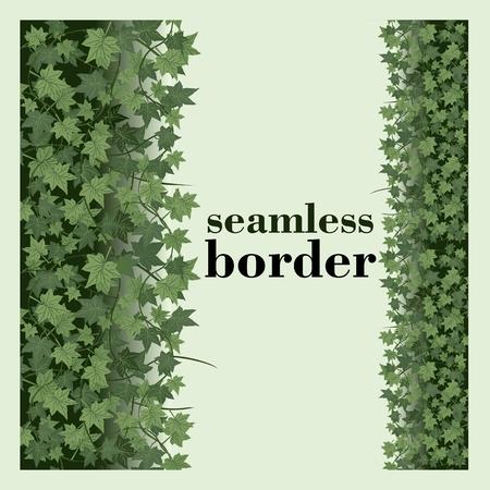 ivy seamless vector repeat border Illustration