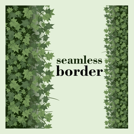 ivy seamless vector repeat border Illustration