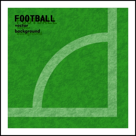 football (soccer) vector background, a corner marker line Vector