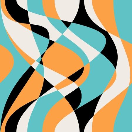 Dikişsiz soyut dalgalar desen. Illustration