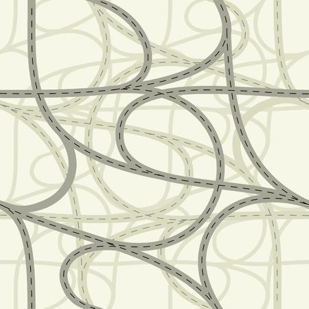 Dikişsiz kavşak Vector illustration