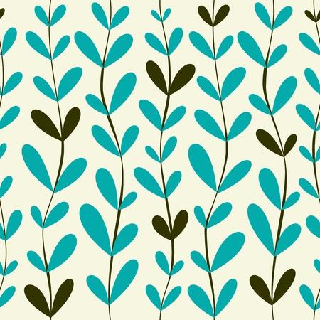 vector seamless pattern. floral stylish background Illustration