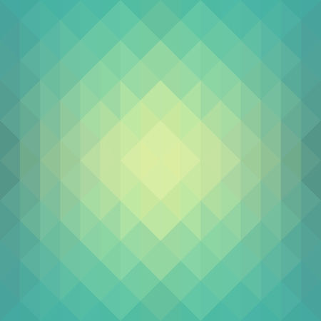 Seamless Green abstract geometrical background Çizim
