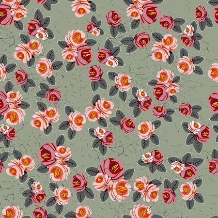 Floral vintage pattern transparente. Shabby chic rose background pour vous scrapbooking.