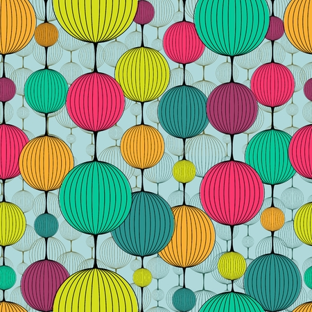 Abstract colorful chaplet seamless pattern Vector