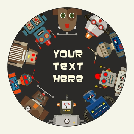 future advertising: Retro Toy Robots Promotional Frame