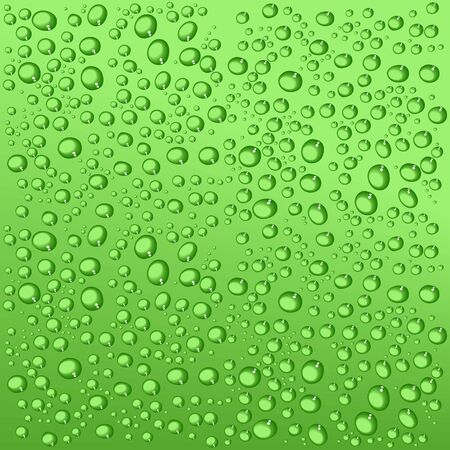 quench: Green waterdrop background. Vector