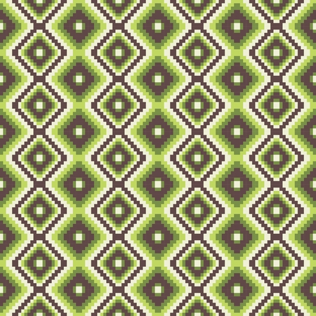 uzbekistan: pixel modern geometric seamless pattern ornament background print design Illustration