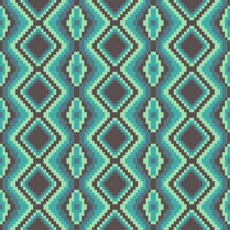 pixel modern geometric seamless pattern ornament background print design Vector