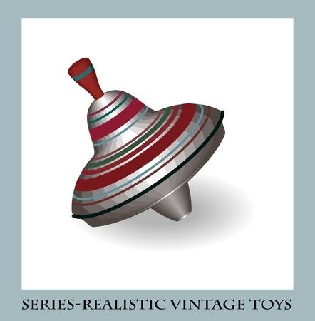 perinola: Perinola Metal, juguetes antiguos de la serie realista
