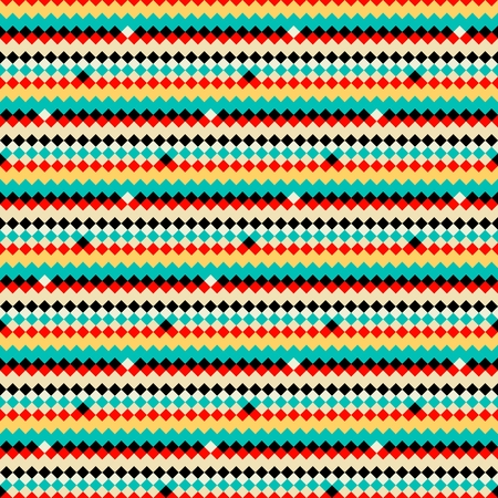 Colorful abstract ethnic geometric pattern, vector Vector