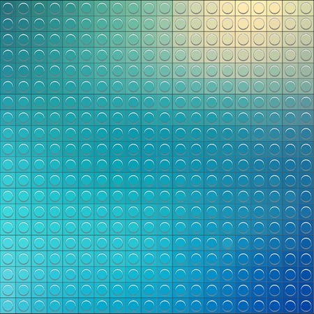 Perfect  vector pattern of plastic parts lego. Blue blurred abstract background.