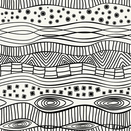 Trendy hipster  Black and white ethnic seamless pattern Vector