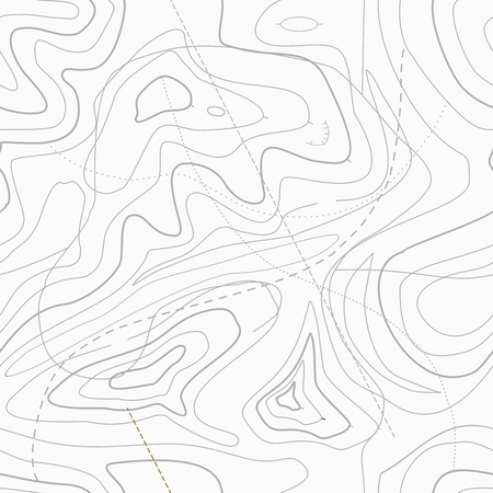 Seamless Light topographic topo contour map background Vector