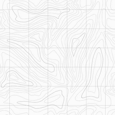 Seamless Light topographic topo contour map background, vector illustration