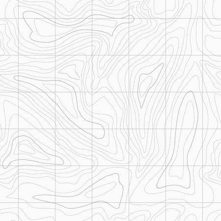 Seamless Light topographic topo contour map background, vector illustration