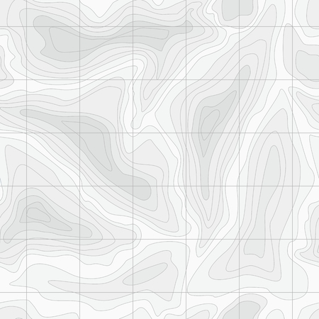topographic: Seamless Light topographic topo contour map background, vector illustration