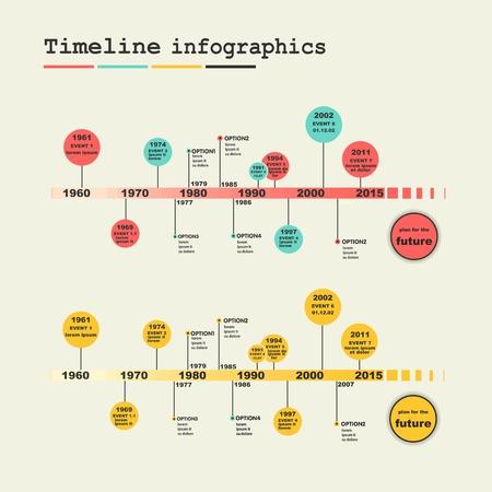 sectors: Timeline Infographic. Vector design template.