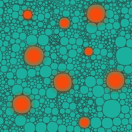 lifelike: Seamless background foam bubbles, white on green