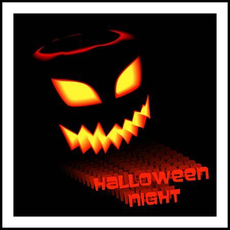 intertainment: Halloween party invitation poster template Illustration