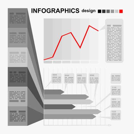 phonographic: Conceptual blank - monochrome infographics design. Vector Illustration