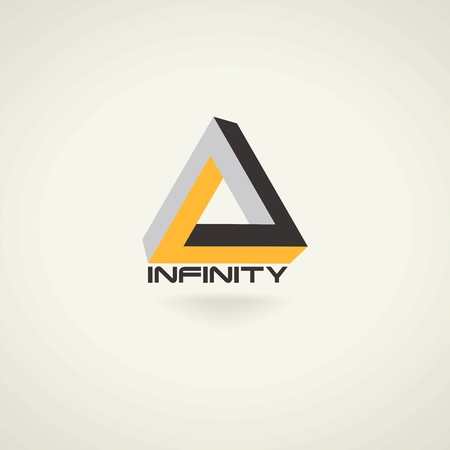 triangles: Conceptual creative technology vector abstract triangle infinity symbol. icon template logo