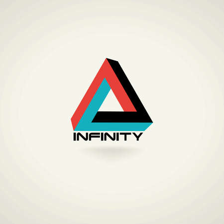Conceptual creative technology vector abstract triangle infinity symbol. icon template logo