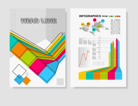 decade: Vector Poster Templates . Abstract Background for Business Documents, Flyers and Placards.